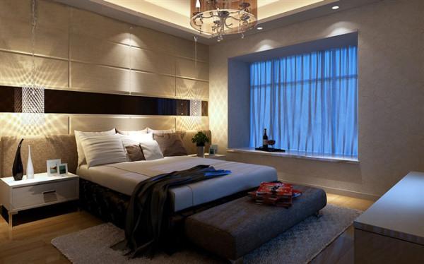 设计理念:白色皮质软包,配合黑镜,还有地面的枫木地板,高雅温馨。