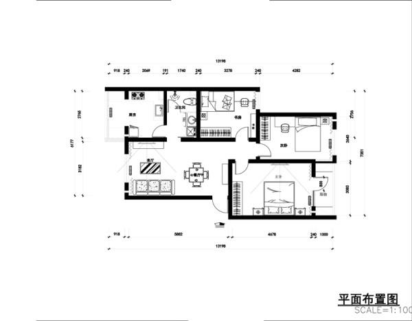 设计说明: 简约风格注重舒适性,造型简单.