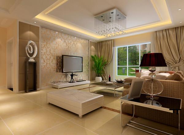 开祥御龙城 85平两居室 现代风格 装修设计案例-客厅电视背景墙