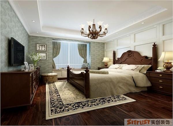 普罗旺世 210平大宅户型 美式新古典风格 装修设计案例-卧室