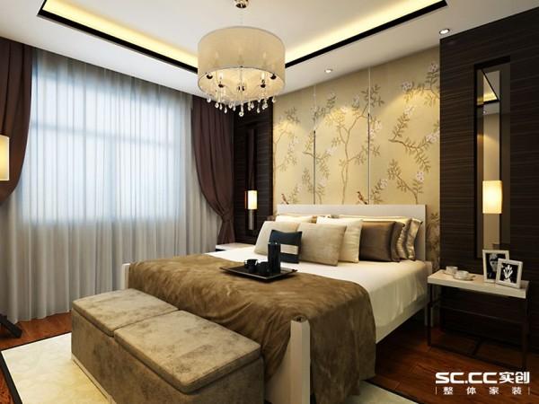 别墅新中式中式卧室装修效果图片_装修美图-新浪装修