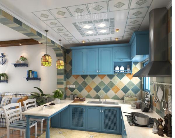 雅巢地中海风格厨房吊顶