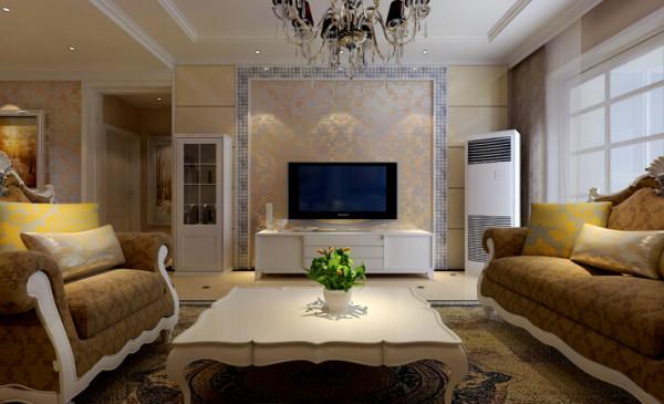 中力七里湾 137平三居室 现代欧式风格 装修设计案例-客厅电视背景墙