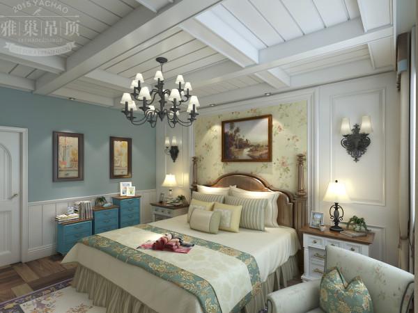 雅巢集成吊顶 卧室美式田园风格吊顶效果图