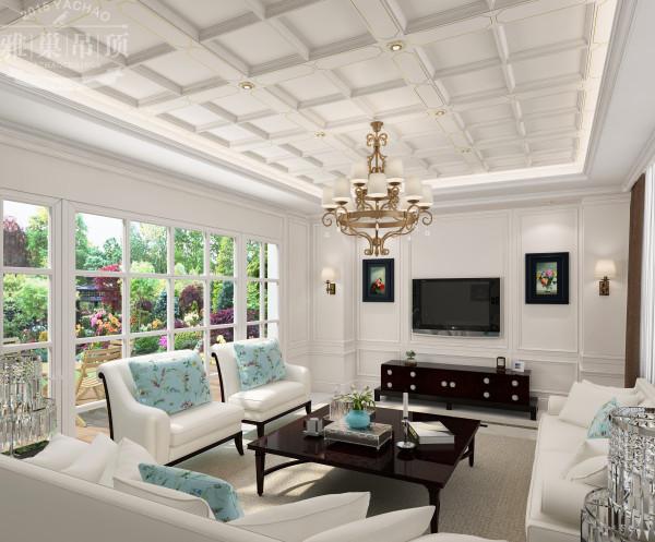 雅巢集成吊顶 现代风格客厅吊顶效果图