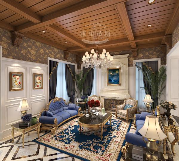 雅巢集成吊顶 美式风格客厅吊顶美图