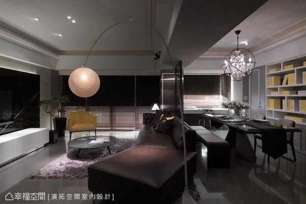 为避免整体空间过于冷调,大胆采用色彩抢眼的家具软件做跳色,有效平衡空间暖度,同时创造出活泼鲜明的个性时尚。