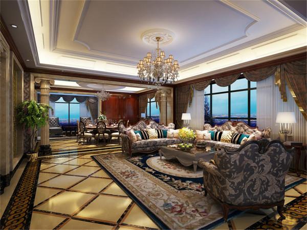 牡丹园别墅户型装修欧式风格设计方案展示,腾龙别墅设计师周峻作品,欢迎品鉴!