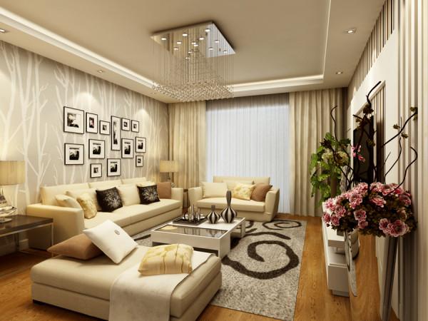 整体设计舒适美观要并存,用不同软装配饰做点缀比如照片墙,使整个空间舒适气派又不繁琐庸俗。