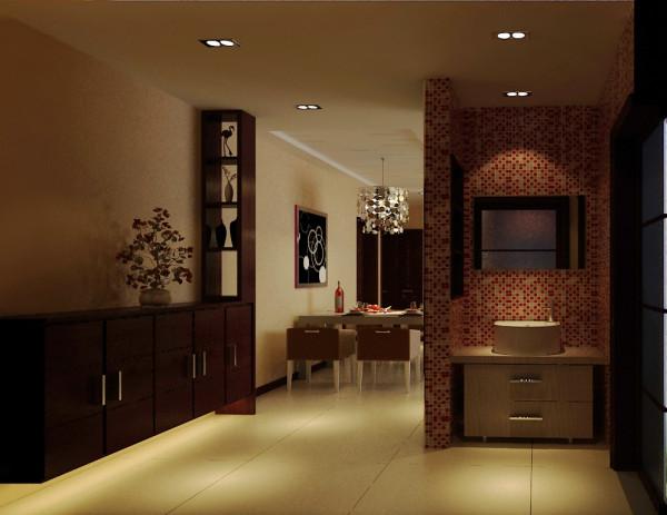 铁道陇海家园 三居室 中式风格 装修设计案例 效果图-卫生间