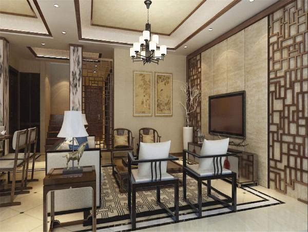 绿洲长岛花园别墅户型装修新中式风格设计方案展示,腾龙别墅设计师成建飞作品,欢迎品鉴