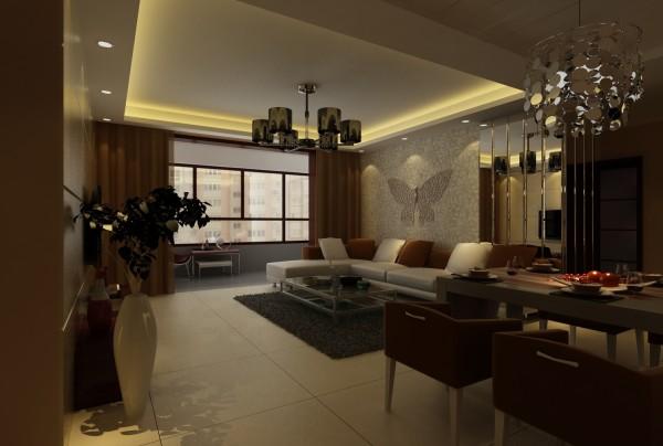 铁道陇海家园 三居室 中式风格 装修设计案例 效果图-客厅