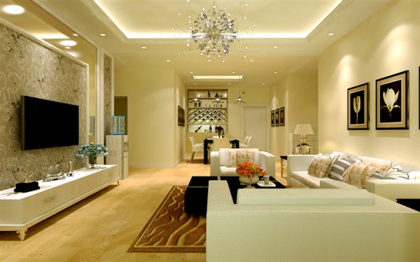 瀚海泰苑 140平三居室 现代风格 装修设计案例 效果图