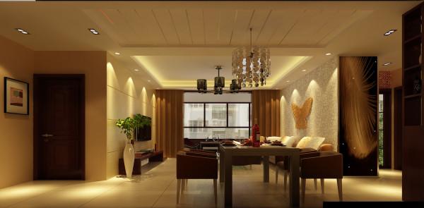 铁道陇海家园 三居室 中式风格 装修设计案例 效果图-餐厅