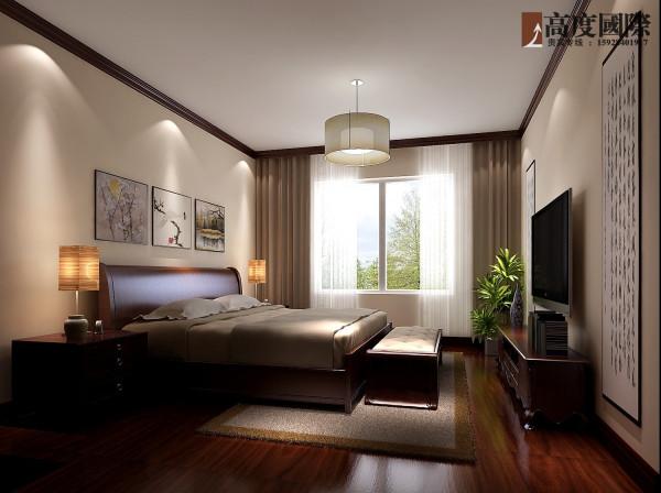 100平米新中式  高度国际装饰 卧室