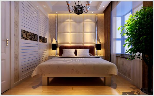 东方国际广场 132平三居室 简约风格装修设计案例 效果图-卧室