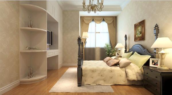 祝福红城 三室两厅 144平米 简欧风格 装修设计 案例效果图--卧室