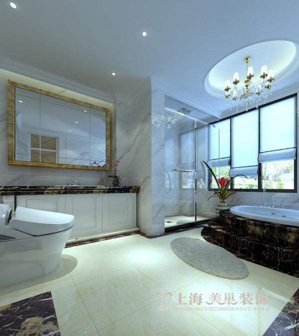 郑州鑫苑现代城220平复式简欧风案例效果图——卫浴设施