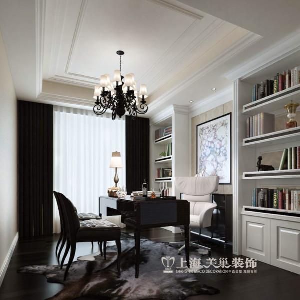 锦园四室两厅160平新古典风格装修样板间——书房效果图