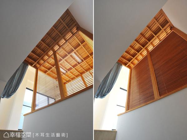 木百叶的设计,兼顾通风、采光与隐蔽性。