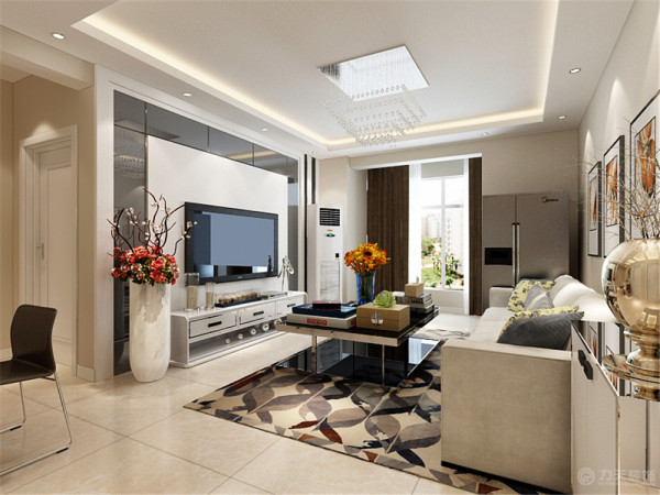 该户型生态城尚苑3室1厅1卫1厨 100.00㎡,该户型整体风格是现代简约风格
