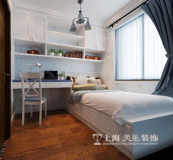 贰号城邦3室2厅装修简欧88平效果图案例——客卧兼书房