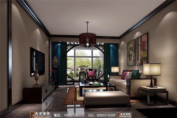 首航欣长客厅装修效果图-----高度国际装饰设计