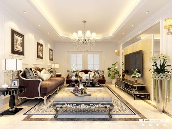 理念欧式风格强调以华丽的装饰、浓烈的色彩、精美的造型达到雍容华贵的装饰效果。欧式客厅顶部喜用大型灯池,并用华丽的枝形吊灯营造气氛