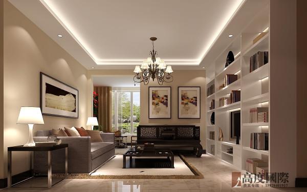 142平中西混搭 高度国际装饰案例  客厅