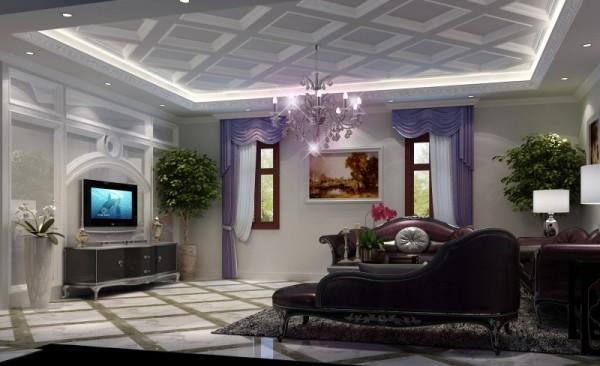 生活家装饰--北京湾370平米欧式风格客厅装修效果图