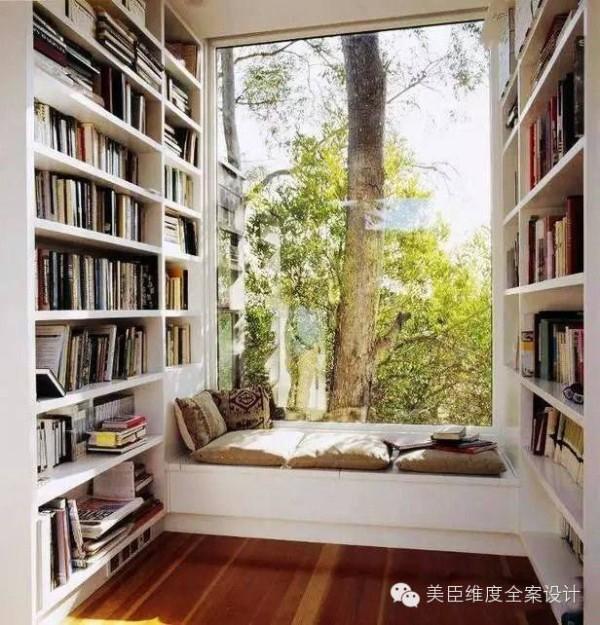 书房篇 阳台改为书房好处之一是光线明亮,工作学习空闲时间可以远眺,缓解视疲劳。