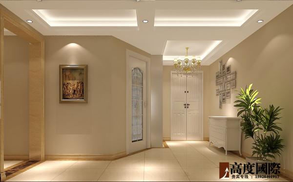 现代欧式  高度国际装饰案例 门厅效果图