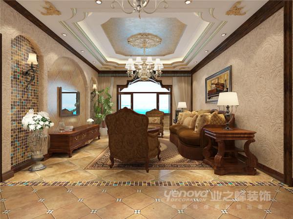 海棠公馆138平美式风格装修效果图——太原业之峰装饰