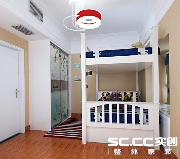 小孩房,复合木地板有助于突出清贵与舒雅。