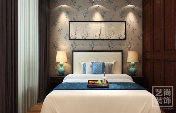 清华大溪地120平方简欧风格装修效果图——卧室装修效果图