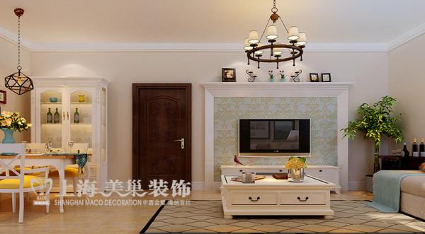 升龙又一城2室2厅1卫86平地中海风格装修效果图——电视背景墙