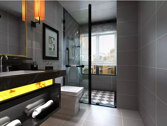 三居后现代风格佳园装饰贵中天未来方卫生间装修效果