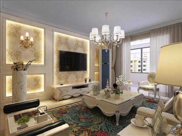 该户型大通花园两室一厅一卫一厨两卫130平方米,该户型整体风格是欧式风格。