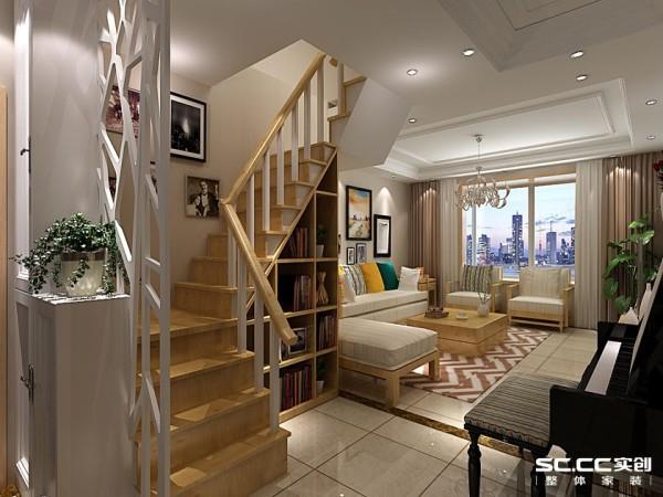 木楼梯舒适 颜色温馨