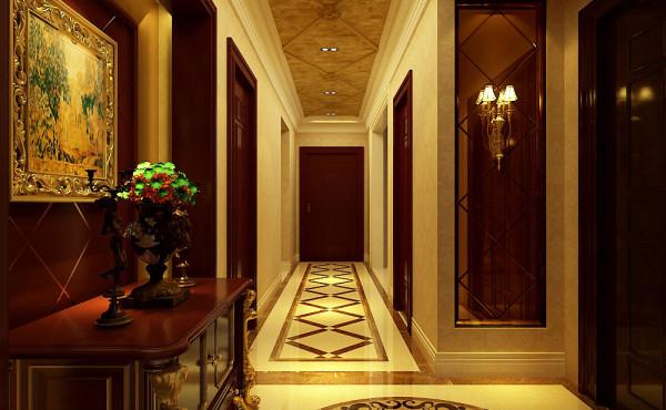 豪华美式大气装修风格走廊效果图
