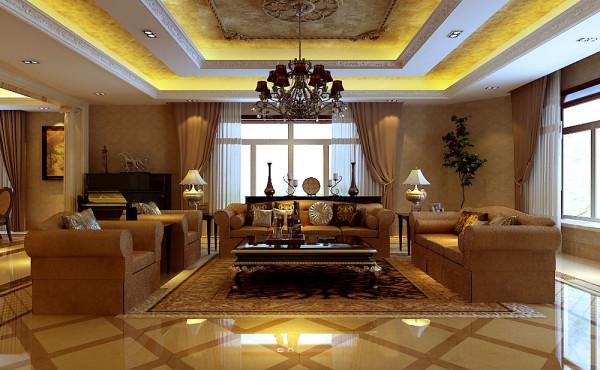 美式风格总能给人以休闲品质的印象,业主选定美式风来打造这间公寓,让整间公寓中拥有舒适休闲的感觉,会客区与阅读区相融合,让这间公寓客厅具有多种功能性,且富丽堂皇的家装设计让业主十分满意。