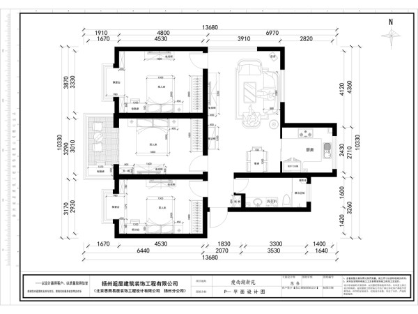 2瘦西湖新苑平面布置图