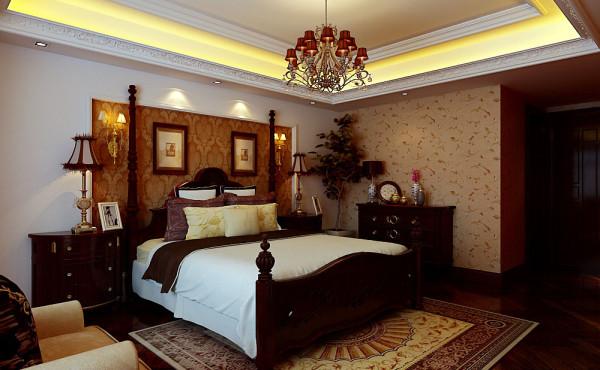 美式风格大气卧室装修效果图