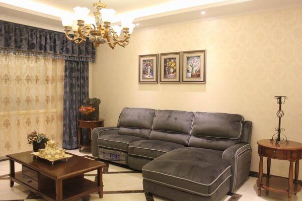 远洋风景125平米中式古典风格装修实景照片,人工+辅料+主材+家具+灯具+水电+窗帘,一共283086元
