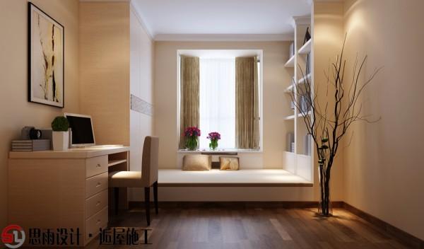 书房设计功能齐全,线条明快,不要复杂的天花,不要复杂的墙纸,不要复杂的吊灯,不要复杂的座椅,取而代之的是简洁的家具布置和明快的色调。木色的电脑桌营造一种心灵放松与安静的气氛。