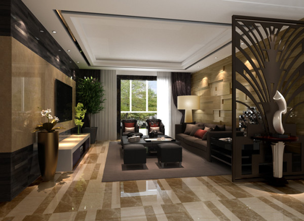 25平欧式客厅此效果图突出的亮点为顶,欧式风格的顶的特点是用石膏线和石膏板吊顶相结合,石膏线才金粉镶嵌,更能体现他的奢华与高贵