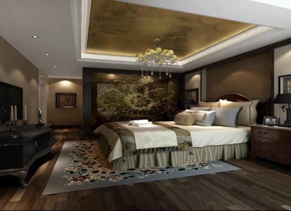 艺术玻璃的浪漫卧室卧室的突出亮点是,卫生间的一面墙采用了艺术玻璃,既体现了设计也比较新颖,顶面的吊顶采用了壁纸,整体不失温馨效果