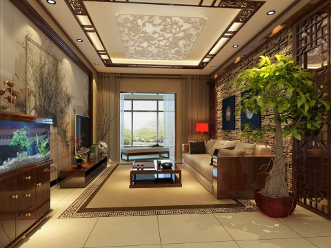 山语城190平米中国风装修