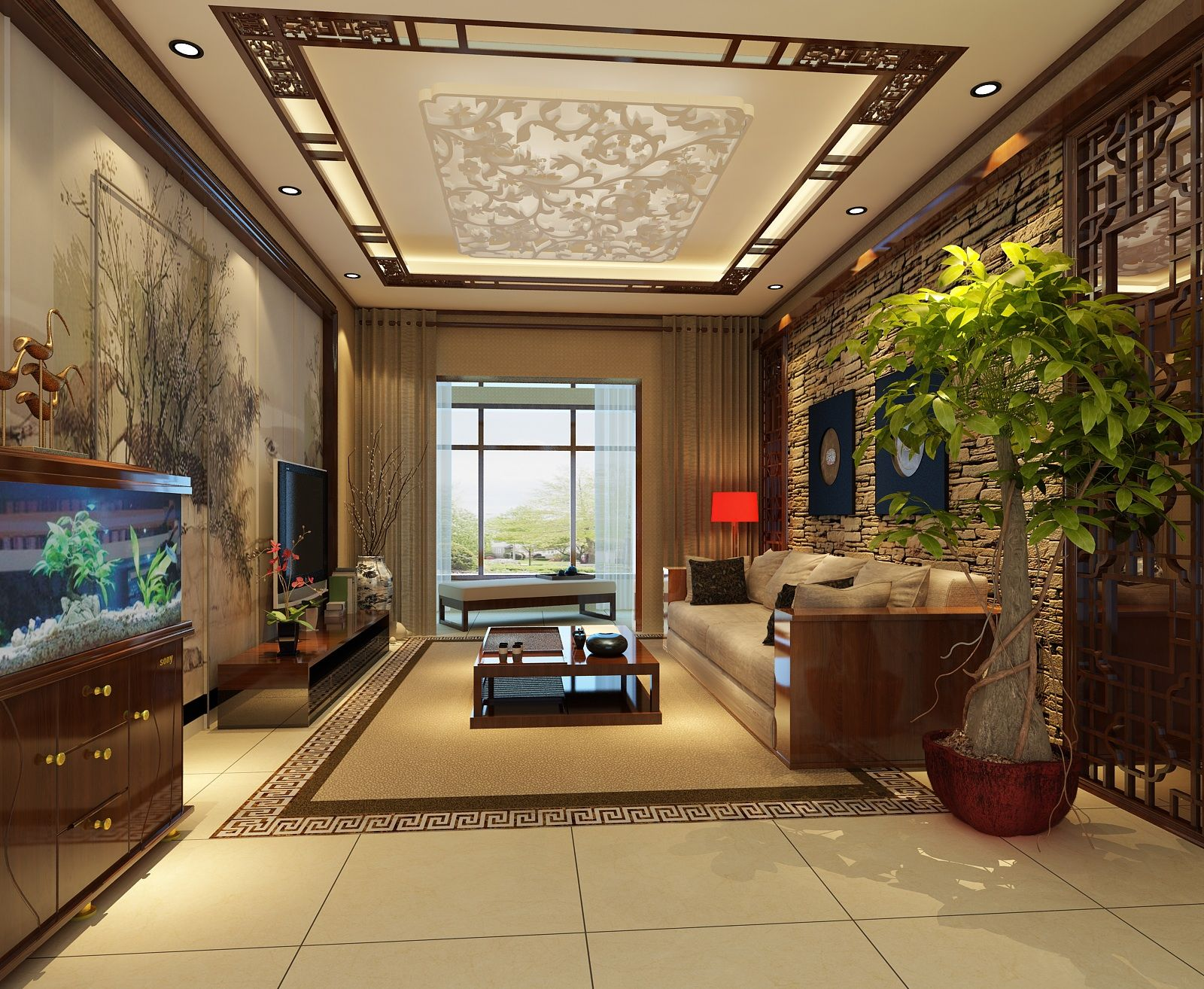 四居 中式 古典 舒适 简洁 华贵 典雅 客厅图片来自xushuguang1983在图片