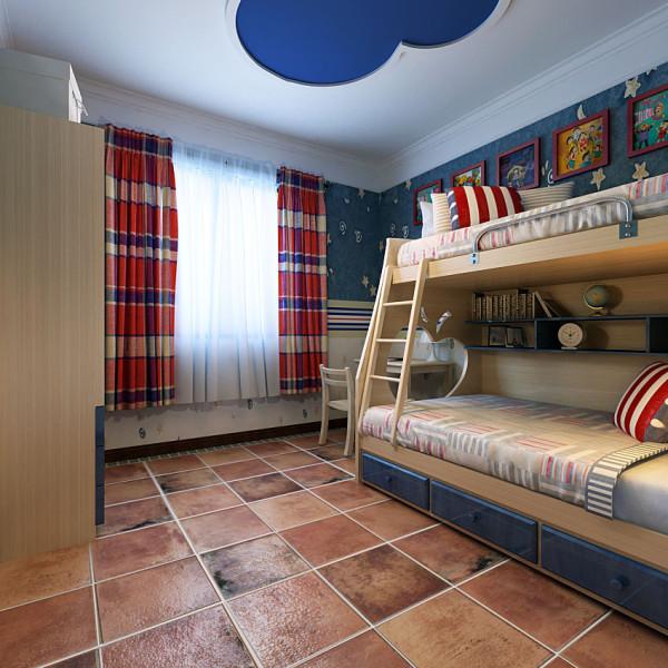 美式风格别墅装修大气男孩房间